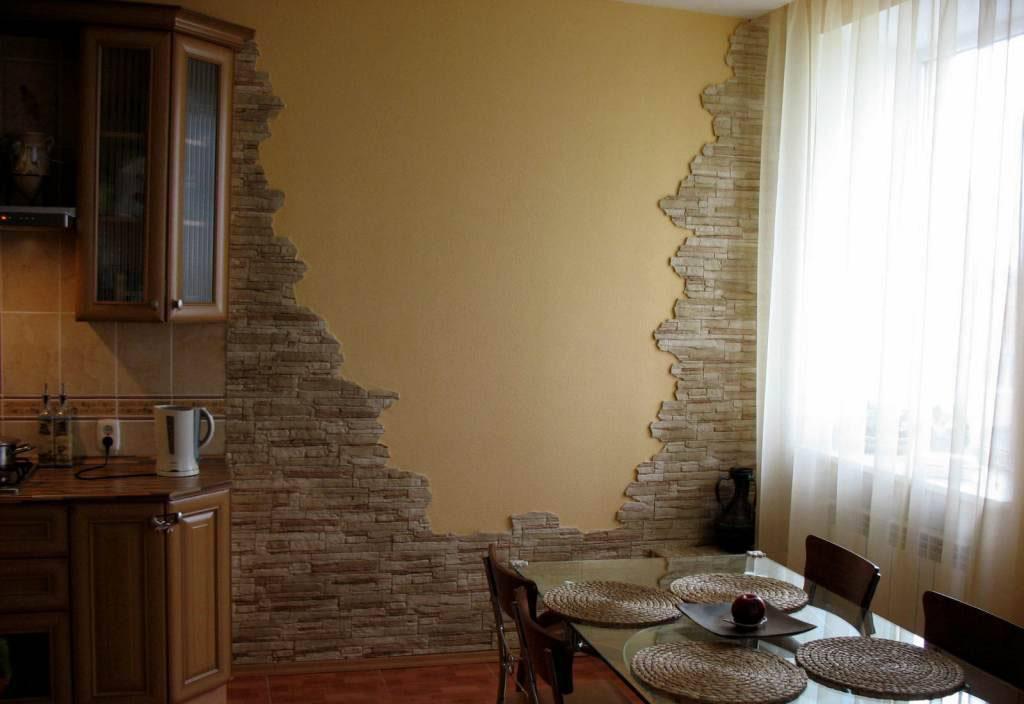 Декоративный камень своими руками в квартире 83