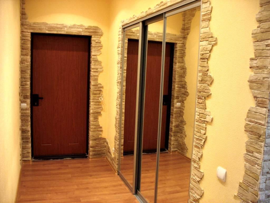 Дизайн коридора с камнем фото